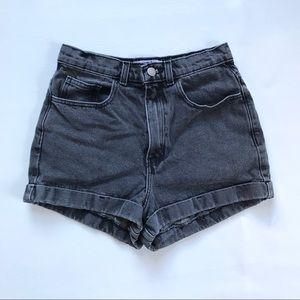 American Apparel High Waist Denim Shorts Size 27